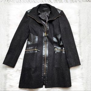 Via Spiga Black Trench Coat